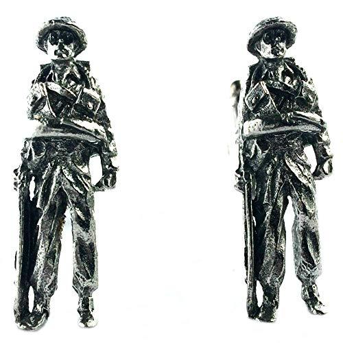 Manschettenknöpfe Soldat, handgefertigt in England aus feinem englischen Zinn, in Geschenkverpackung