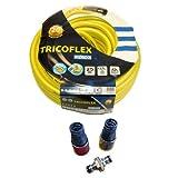 Tricoflex 00110213 Wasserschlauch 12.5 mm, 25 m Rolle mit Ultra Metal Armaturen, gelb