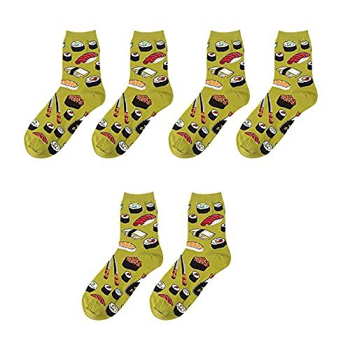 MoGist - Calcetines para mujer, diseño de caricatura creativa, 10 pares de calcetines de...