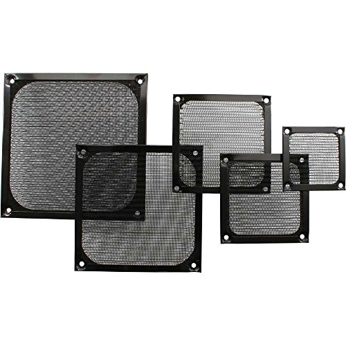 InLine 33379S Lüftergitter, Aluminium Filter, 92x92mm, schwarz
