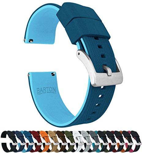 Barton - Correa de reloj de silicona Elite con liberación rápida. Color a elegir, medidas: 18 mm, 19 mm, 20 mm, 21 mm, 22 mm, 23 mm y 24 mm