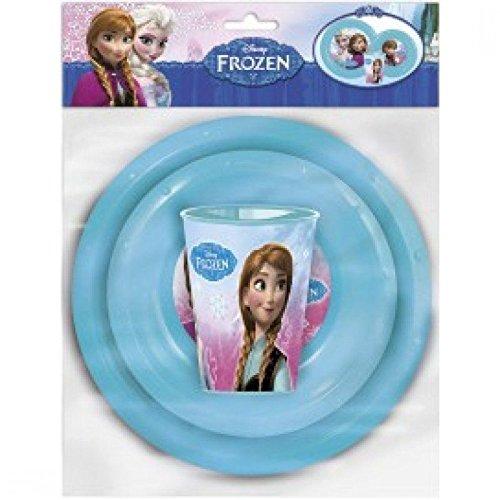 ENFANTS 3 pièces Différentes personnage Motif Vaisselle de table avec tous les accessoires inclus (Groupe d'Âge : 2 +) Disney Frozen