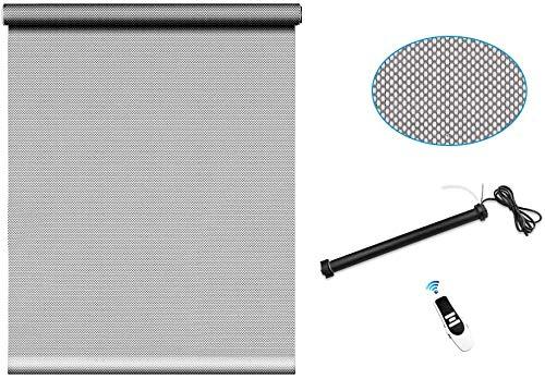 zemismart Wifi Smart Roller Shutter buismotor met gordijn zon Fabric, Alexa stem, Timer Controle, Afstandsbediening, 5% lichttransmissie, Zeer schaduw, Brandvertragend