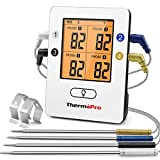 ThermoPro TP25 495ft Long Range Wireless Bluetooth Meat Thermometer with 4 Temperature Probes Smart...