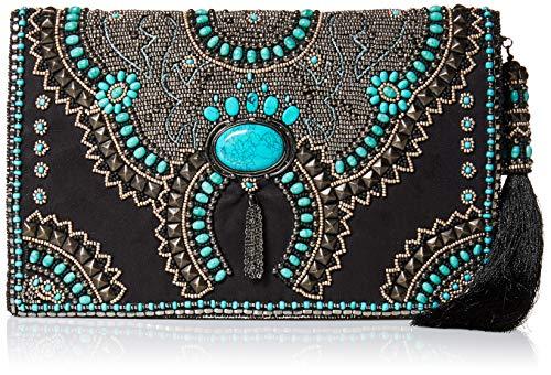 Mary Frances Squash Blossom Beaded Crossbody Clutch Handbag, Multi