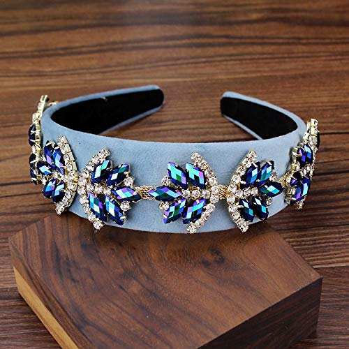 Women Vintage Hair Accessories Max 68% OFF Purple Blue security And Crystal Stone Bri