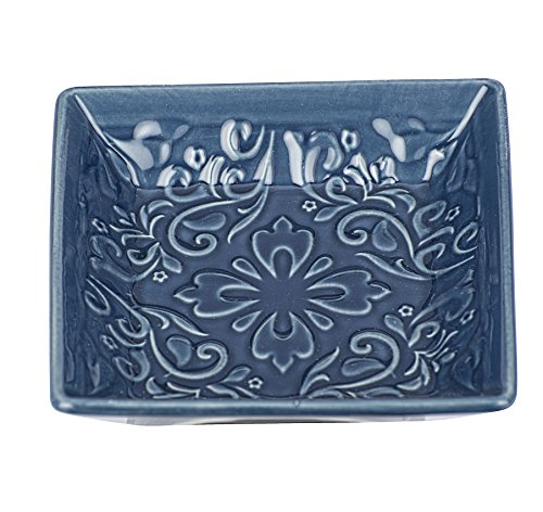 Wenko Jabonera Cordoba Azul–Jabonera, cerámica, Azul Oscuro, 10.5x 10.5x 2.5cm