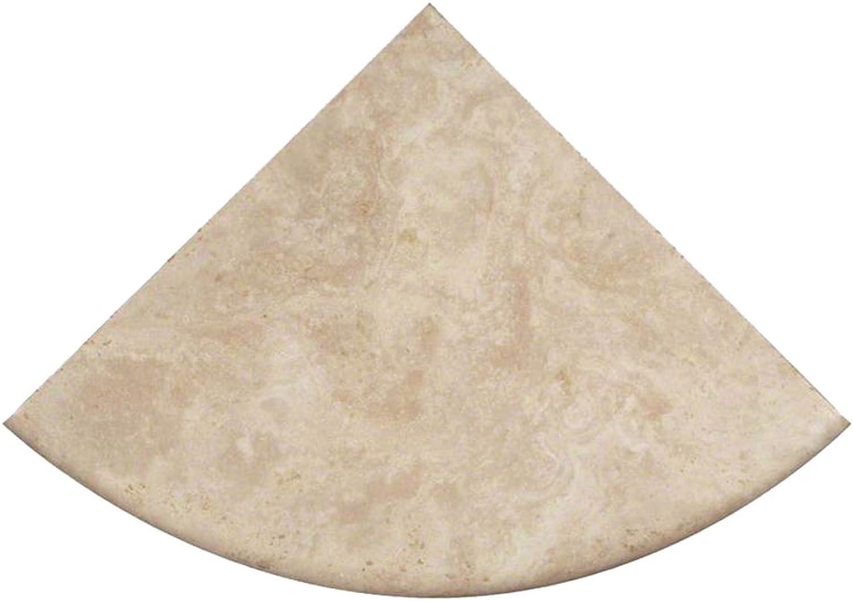 Premium Quality Durango Cream Filled and Honed Ivory Light Tragreenine Corner Shelf 9'' (2)