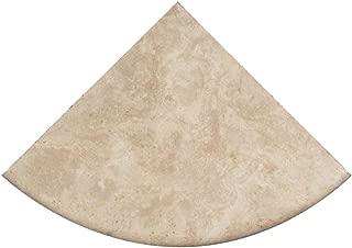 Premium Quality Durango Cream Filled and Honed Ivory Light Travertine Corner Shelf 9'' (2)