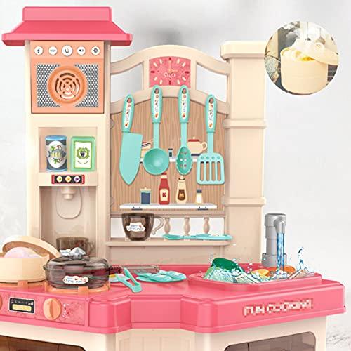 JXINGY Juego de Cocina para Niños, Juguetes de Comida de Simulación para Niños Pequeños, Juego de Accesorios de Juego de rol de Chef,...