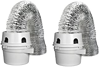 Dundas Jafine TDIDVKZW ProFlex Indoor Dryer Vent Kit with 4-Inch by 5-Foot ProFlex Duct (2 - Pack)