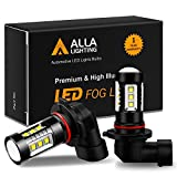 Alla Lighting 3200 Lumens 9145 H10 LED Fog Light Bulbs, Extreme Super Bright High Power 80W Cree 12V CANBUS 9140 9045 9040 PY20D 9155 Replacement, 6000K Xenon White