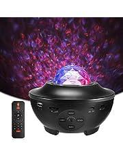 LED Sterlicht Projector, Delicacy Oceaangolf Nachtlichten,Roterende Nevel Projector Lamp,Kleur Veranderende Muziekspeler met Bluetooth&Timer&Afstandsbediening,Kinderen Volwassenen Kamer Woondecoratie