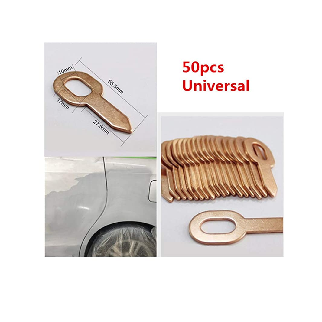 50 PCS/Set Copper coated Stainless steel Dent Pulling Ring Washer For Car Spot Welder Soldering Panel 55.5mm