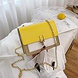 Hzryc Bolsas Pequeñas De Hombro con Una Solapa para Las Bolsas De Hombro De Las Mujeres del Verano De La PU De Cuero Messenger para Niñas Señoras del Bolso Monedero del Teléfono,Y Amarillo