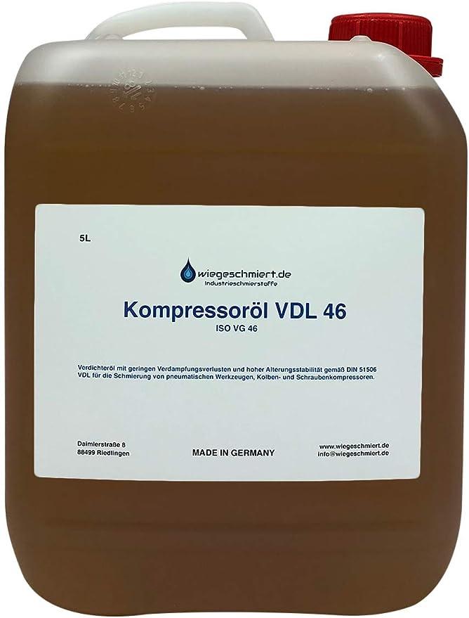 5 Liter Kanister Kompressoröl Vdl 46 Auto