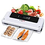 Bonsenkitchen 4-in-1 Food Vacuum Machine - Kitchen and Storage Vacuum Device - Including Bags and Vacuum Roller for Food, Meat, Vegetables, Fruits (VS3750)