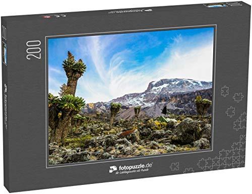 Puzzle 200 Teile Camping auf dem Kilimanjaro in Zelten, um die Gletscher zu sehen, Afrika - Klassische Puzzle, 1000 / 200 / 2000 Teile, edle Motiv-Schachtel, Fotopuzzle-Kollektion 'Seven Summits'