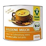 Raab Vitalfood Bio Goldene Milch Pulver für Curcuma Latte / Kurkuma mit Curcumin, Heißgetränk, vegan, glutenfrei, laktosefrei, 1er Pack (70 g)