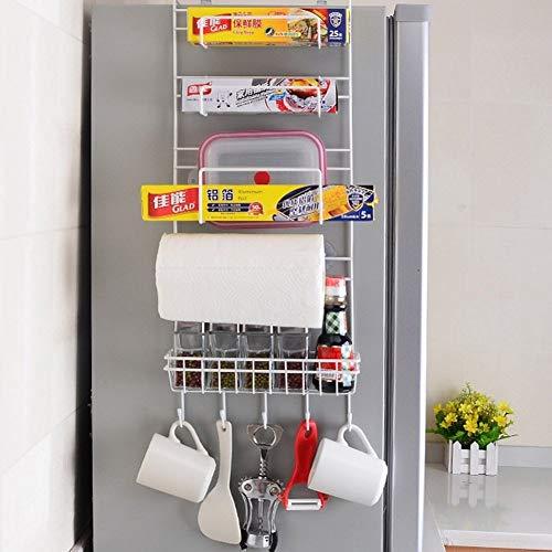 NMDD Multifunktions-Kühlschrankregal für die Küche Seitenwand-Kühlschrankregal, Silber, Einheitsgröße