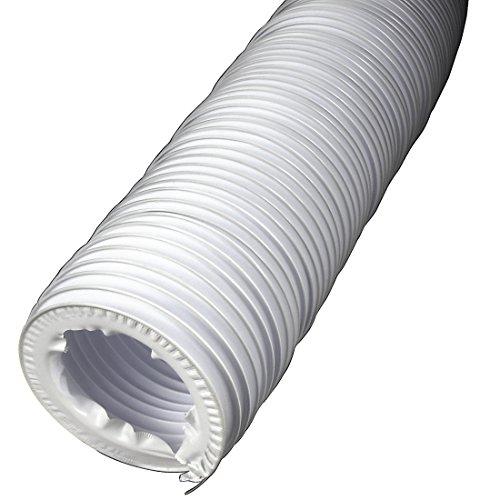 Xavax Tuyau d'évacuation d'air (pour sèche-linge, diamètre intérieur 10,2 cm, longueur 2 m) Blanc
