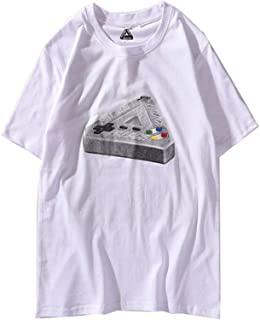 Palace Game Machine Triangle Logo Printing Casual Short Sleeve T-Shirt for Men/Women
