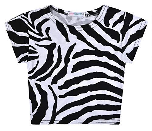 Jolly Rascals - Camiseta de manga corta estampada en viscosa con cuello redondo, longitud a la rodilla en floral, lavable a máquina
