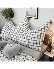 liveinu Corona Forro Polar Cojín Cabecero con pompones cama cojín lumbar Respaldo palé sofá cojín para cama sofá Lavado Bar Decoración Cojín para habitación de los Niños Dormitorio