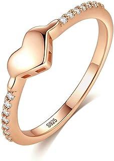 Nuovo S925 Sterling Silver Anello Amore Lucido Design Diamante Anello Femminile Gioielli Argento