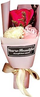 Farantasy造花ファッション美しい現実的な箱の香りの浴体の花びらバラ花石鹸結婚式の装飾ギフト最高の人工花