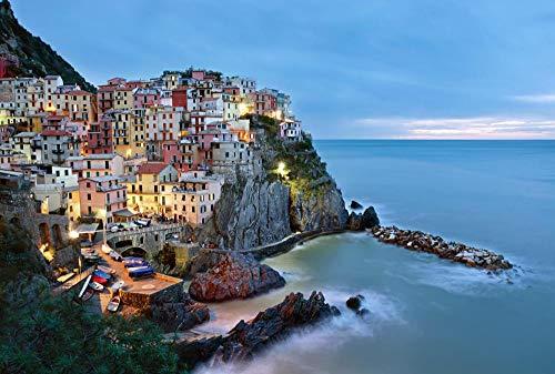 Pussel för vuxna barn 500 stycken italienska hamnstäder 500 stycken träpussel födelsedagspresenter leksaker familjespel