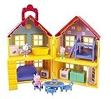 Jazwares 92620 - Peppa Wutz Peppa's Familienhaus, Spielset mit Zubehör, Spielhaus Set mit 3...