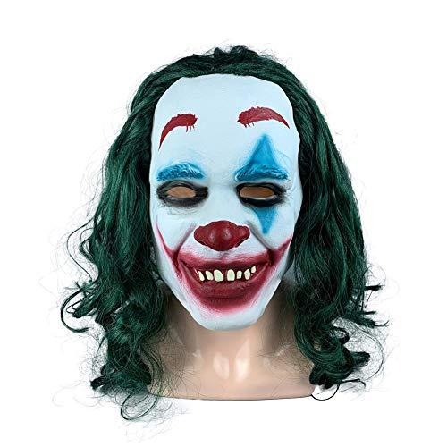 TARTIERY Halloween Cosplay Clown Maske Kostüm Prop Horror Maske Kostüm Latex Maske Erwachsene Party Dekoration Requisiten Für Parteien Karneval Ostern
