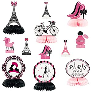 [Party in Paris Decoration] When we talk about Paris, what will you think of? Eiffel tower, perfume, a stylish lady? That's the inspiration for our new honeycomb. Our honeycomb designs with the elements of Paris, fashionable and elegant, which will a...