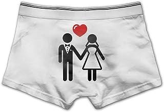 84dacd230a ZOZGETU Men's Bride and Groom Underwear Soft Cotton Boxer Brief Boxer  Briefs Underpants