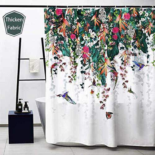Obal douchegordijn, badgordijnen, waterdicht, anti-schimmel polyester, stof met zwaar gewicht, met gordijnhaken, wasbaar, 180 x 180 cm