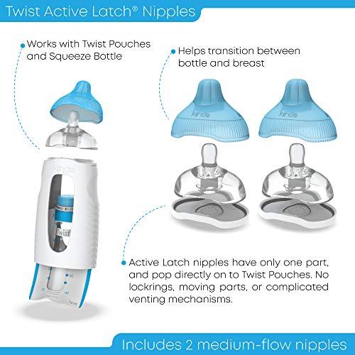 B00CXS23DO - Kiinde Twist Active Latch Nipple - 2 Pack, Medium Flow
