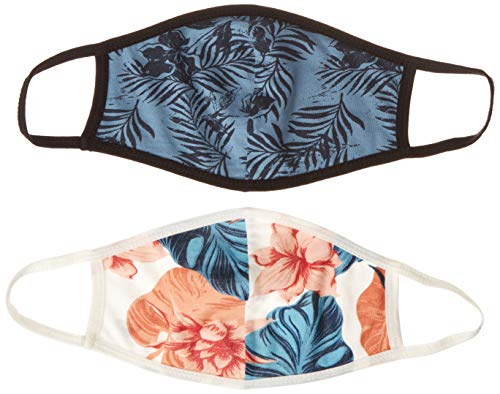 Roxy Women's Reversible 2 Pack Face Mask, Blue Heaven LIRELY RG, One Size