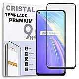 Protector de Pantalla Curvo para REALME V5 5G - REALME 7, Negro, Cristal Vidrio Templado Premium, 3D / 4D / 5D, Anti Roturas