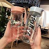 ABRC Preciosa Esmerilado Manera de la Taza 550ml Personalidad de la Creatividad portátil de Vidrio para Beber de la Botella Linda Botella de Agua del envío de la Gota