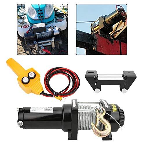 Cabrestante de cuerda sintética, accesorio de coche, vehículo industrial, 12V 4500lb, accesorio mecánico, cabrestante eléctrico de doble uso para SUV para Jeep