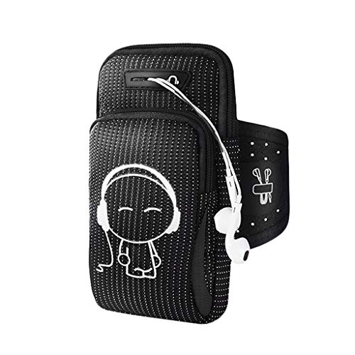 LEZDPP Armbänder für MP3-Player Arm-Beutel-Handgelenk-Fitness Lauf Handy-Arm-Beutel Sports Handy-Arm-Hülsen-Beutel Arm Gürtel Schutzhülle (Color : C, Size : 6.3 inches or Less)