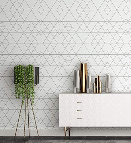 Wallpaper Nordic wind ins papel no tejido no tejido blanco y negro gris a cuadros tienda de ropa línea papel pintado a cuadros - black_White