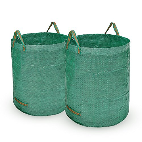 Ohuhu Garden Waste Bags 72 Gallons Reusable Yard Leaf Bag, Durable & Portable Garden Storage Bags With Dual Handles, 2 Pack