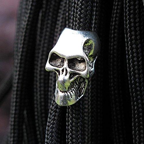 CVERY Lot de 10 Couteaux en Forme de crâne en Alliage Portable pour extérieur et randonnée Longue durée Outil multiusage Lampe Torche Accessoires Camping