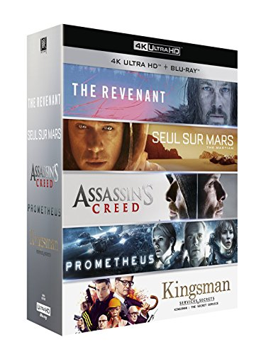 Meilleur de la 4K : The Revenant + Seul sur Mars + Assassin's Creed + Prometheus + Kingsman : Services secrets [Francia] [Blu-ray]