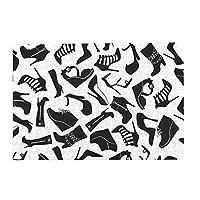 300ピース ジグソーパズル パズル ブラックレディースシューズパターン (26 X 38cm)