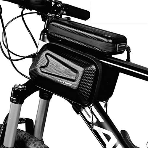 YYDM Bolsa De Marco De Bicicleta, Bolsa De Teléfono Móvil A Prueba De Agua, Bolsa De Bicicleta De Gran Capacidad para Pantalla Táctil, Adecuado para Pantallas por Debajo De 6,5 Pulgadas,1l
