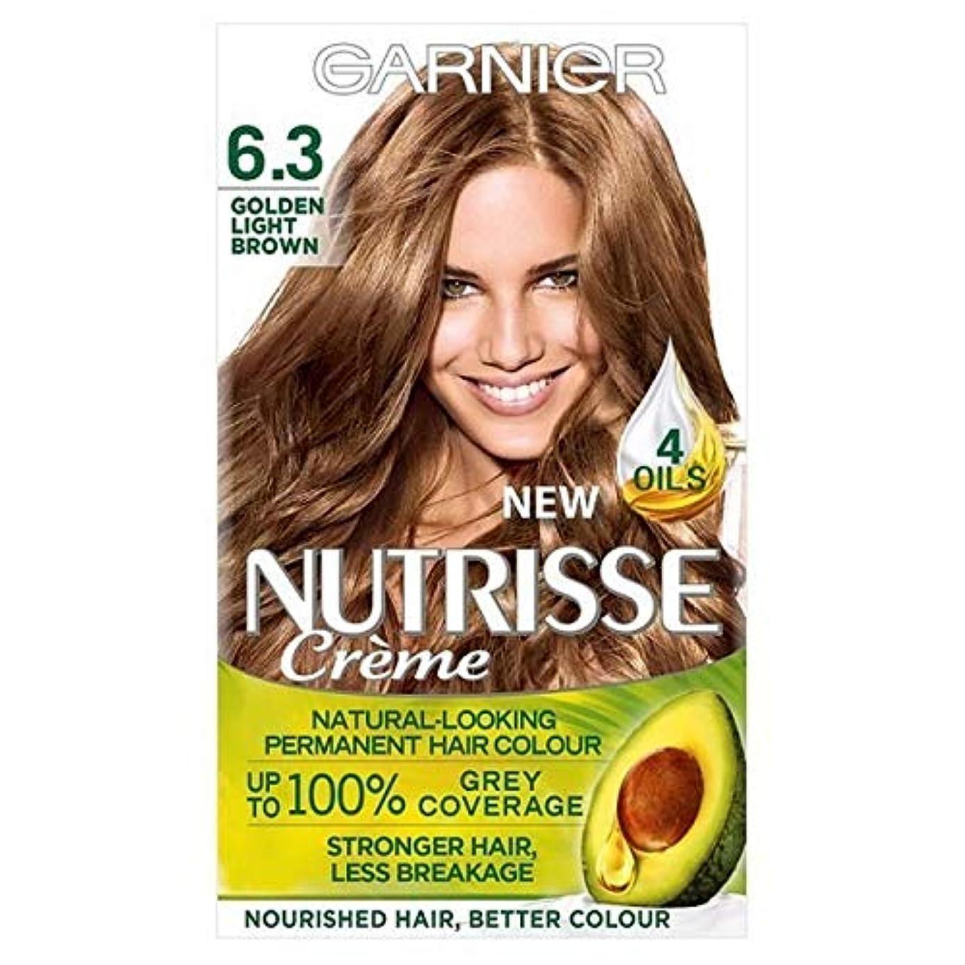 権利を与える銀行答え[Garnier ] ガルニエNutrisse永久染毛剤黄金ライトブラウン6.3 - Garnier Nutrisse Permanent Hair Dye Golden Light Brown 6.3 [並行輸入品]