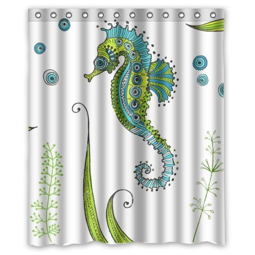 Amazon High Quality And New Fashion Seahorse Shower Curtain 60 X 72 Clothing